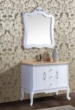Mirror를 가진 지면 Standing Antique Solid Wood Bathroom Vanity