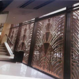 Домашняя стена перегородки экрана металла нержавеющей стали Deco для гостиниц