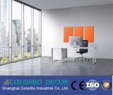 Panneaux de revêtement muraux en acier acoustique / panneau acoustique en fibre de verre