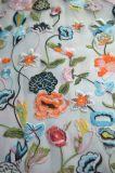 女性の衣服のための刺繍パターンデザインのオーガンザのレースファブリック