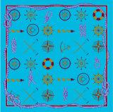 O lenço de seda quadrado, lenço das mulheres, projeta Hangzhou China
