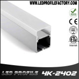 la luz de tira de 4K-2402 LED sacó la pista de aluminio del canal
