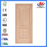 Кожа двери китайского Teak Veneer панелей высокого качества 6 деревянная (JHK-S02)