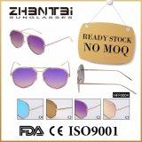 Óculos de sol do espelho do frame da liga dos óculos de sol da forma de nenhumas mulheres de MOQ (HFF0004)