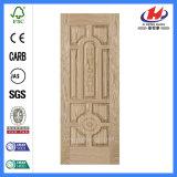 Peau de porte moulée par bois normal d'usine de placage de HDF/MDF (JHK-018)