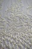 Tessuto all'ingrosso del merletto della fabbrica con il ricamo dei Sequins per il vestito da cerimonia nuziale