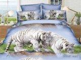 Modèles réglés estampés animaux bon marché de literie de coton divers (tigre, lion)