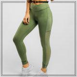 (Muestra libre) pantalones de encargo de la yoga de Lycra del entrenamiento de la compresión de la aptitud de las mujeres del OEM
