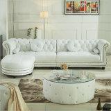 Estilo americano novo sala de estar clássica sofá de canto de couro genuíno conjunto