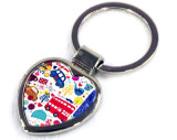 Keyring сублимации подарков промотирования Heart-Shaped пустой
