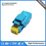 Conector fêmea Fci de 2 pinos Auto caixa de cabo azul