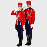 販売のための新しいデザイン赤いカラーホテルの監視ユニフォーム