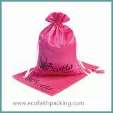 Мешок подарка сатинировки высокого качества пурпуровый с Tassels