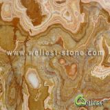 Wall Background, Table, Desk를 위한 Cross Cut를 가진 J125 Mysterious Onyx Tile와 Slab