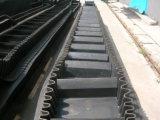 Il DJ digita a grande angolo il nastro trasportatore verticale del muro laterale per il complesso del carbone