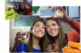 Cas de couverture de téléphone mobile de la qualité 2016 avec le cas de clignotement de la fonction DEL de Selfie pour le cas 6 de l'iPhone 5