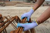 Gant de travail de polyester avec le bleu de l'enduit de latex (LY3013) (CE RECONNU) -