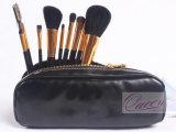산양 Hair Cosmetic Brushes 9PCS Black Makeup Tools