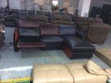 L sofà di piccola dimensione del cuoio del Recliner di figura per il servizio della Corea (G17316)