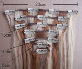 Grampo de Remy do europeu de 100% no cabelo humano