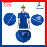 Healong는 숙녀 또는 Mens 소매 없는 폴로 셔츠의 인쇄를 승화했다
