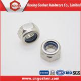 黒いナイロン挿入ロックナットANSI/DIN982/DIN985