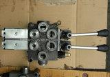 2 de hefbomen behandelen de Pneumatische Klep Hydraulische RichtingMonoblock van de Spoel van de Controle voor de Terugkeer van de Lente van de Kipwagen van de Kipper van Chassis
