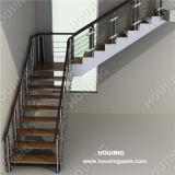 Balustrade를 가진 현대 Indoor L Shape Steel Staircase