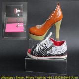Présentoir clair acrylique de magasin de chaussures