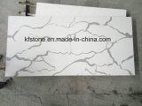 Новая белая мраморный плитка кварца плакирования стены Calacatta