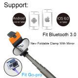 De nieuwe Vouwbare Klem van de Stok van Bluetooth Selfie van het Aluminium met Spiegel Smartphone