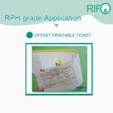 Papel sintético Printable de Rph-100 PP para materiais Printable do compartimento do offset