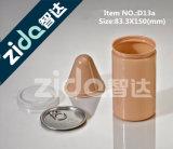 vaso di plastica dell'animale domestico trasparente 750ml con la protezione bianca del coperchio della protezione nera del coperchio