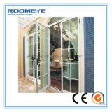 中庭のためのRoomeyeのアルミニウムによって蝶番を付けられるドアかアルミニウム開き窓のドア