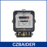 Tester attivo elettronico bifilare monofase di costo energetico di watt-ora (DD282)