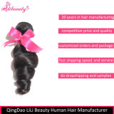 7A paquets desserrés malaisiens de cheveu d'onde de cheveux humains de la pente 100%