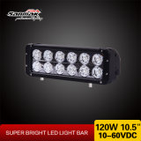 Each 크리 말 Chip 120W Double Row LED Light Bar Offroad를 위한 10.5 인치 10W