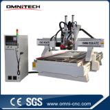 Máquina de grabado de madera del CNC con el cambiador auto de la herramienta