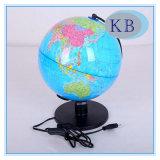 globo del mundo del plástico de 25m m con la luz del LED
