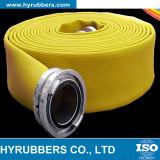 Manguito del PVC Layflat de 3 pulgadas en tubo plástico