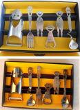 Mesa de rosto sorvete Conjunto de colher de garfo 6 PC por conjunto Aço inoxidável 304/201