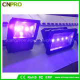 Blacklight 어업 수족관 놀 치료를 위한 특수 효과 100W UV LED 플러드 빛 IP65