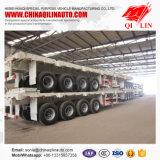 4 dimensions à plat de remorque des essieux 40FT pour Philippines