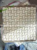 mosaico di marmo beige lavorato a maglia spina di pesce 3D