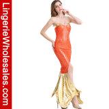 誘惑的な女性のセクシーで長い管の海洋のサイレンの人魚のCosplayの衣裳