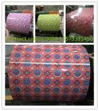 Hoja de acero galvanizada prepintada/bobina/arruga de acero cubiertas color PPGI
