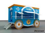 販売のためのカスタムスイートコーンの食糧キオスクデザインポップコーンの食糧キオスク