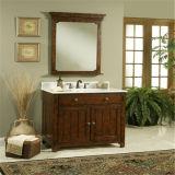 木の浴室の虚栄心を立てる現代床