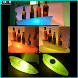 LED Color Change Bar Bouteille de vin Plateau Plate Lighting