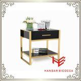 코너 테이블 (RS161601) 침대 대 탁자 측 테이블 스테인리스 가구 홈 가구 호텔 가구 현대 가구 테이블 커피용 탁자 콘솔 테이블